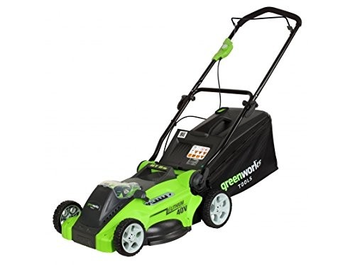 Greenworks 40v 40cm Mower with 2x2ah Batteries and Charger G40LM40K2X