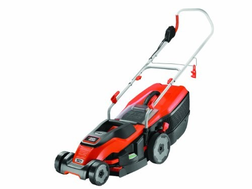 Black + Decker 1600W Edge-Max Lawn Mower with 38cm Cut Intelli Cable Management and 45L Compact Go Box