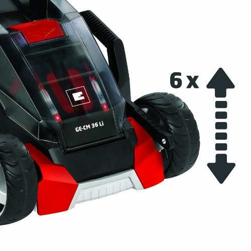 einhell ge cm 36 li power x change 36v lithium cordless ion lawnmower one hour fast charger. Black Bedroom Furniture Sets. Home Design Ideas