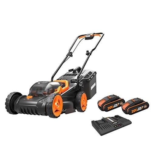 WORX WG779E.2 Cordless Lawn Mower 34cm Dual 20V Batteries